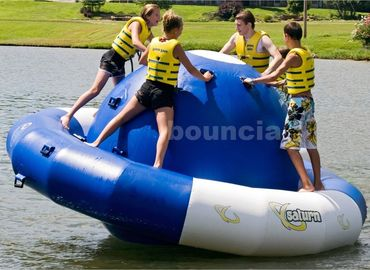 ประเทศจีน 0.9mm Double Layer PVC Fabric Inflatable Saturn Rocker For Adult Used In Lake โรงงาน