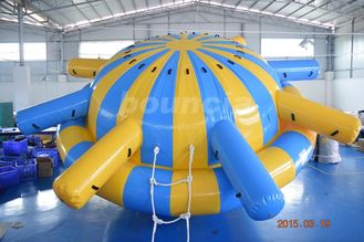 ประเทศจีน 0.9mm PVC Tarpaulin Inflatable Saturn Rocker For Water Park Games โรงงาน