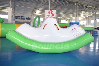 ประเทศจีน 0.9mm PVC Tarpaulin Inflatable Water Totter / Inflatable Water Seesaw For Pool โรงงาน