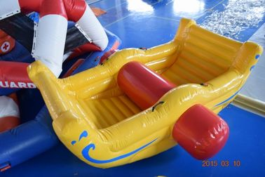 ประเทศจีน Commercial Grade Inflatable Water Totter For Swimming Pool / Lake โรงงาน