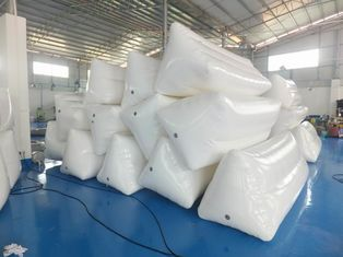 White Color Inflatable Floating Billboard For Advertising With Durable PVC Tarpaulin