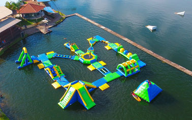 ประเทศจีน 0.9mm PVC Tarpaulin Adults  Inflatable Floating Water Park Games With TUV Certification ผู้ผลิต
