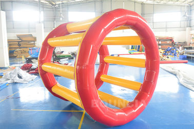 ประเทศจีน PVC Tarpaulin Inflatable Hamster Wheel For Outdoor Water Activity โรงงาน