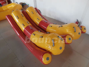 ประเทศจีน Two Tubes Inflatable Floating Water Totter With 0.9mm PVC Tarpaulin โรงงาน