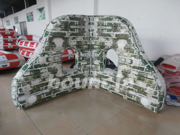 ประเทศจีน PVC tarpaulin Mossy Inflatable Paintball Bunkers For Paintball Sports โรงงาน