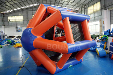 ประเทศจีน 0.9mm PVC Tarpaulin Colorful Inflatable Water Roller  For Water Games โรงงาน