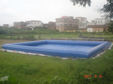 ประเทศจีน Giant Inflatable Water Pool With CE Air Pump For Rental Business โรงงาน
