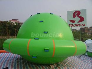 ประเทศจีน Green Color Commercial Grade PVC Tarpaulin Inflatable Saturn Rocker โรงงาน