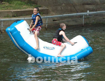 ประเทศจีน Inflatable Water Totter With Stainless Steel Anchor Rings For Kids โรงงาน