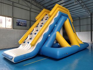 0.9mm พีวีซีผ้าใบกันน้ำ Giant Inflatable Floating Water Slide กับ TUV Certificate