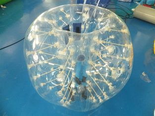 ประเทศจีน 0.7mm Clear TPU Kids Bumper Ball, Inflatable Body Zorb Ball For Fun โรงงาน