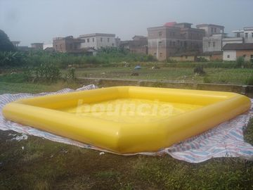 ประเทศจีน Yellow Color Outdoor Inflatable Water Pool With Reinforcement Strips โรงงาน