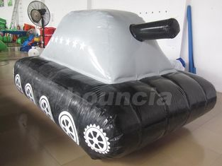 ประเทศจีน 0.6mm / 0.9mm PVC Tarpaulin Fabric  Inflatable Military Tank for Paintball Sport โรงงาน