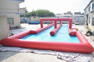 ประเทศจีน 50m Inflatable Water Slide , Inflatable Long Slide For City Road โรงงาน