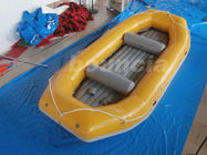 Yellow 2.0mm Thick Inflatable River Rafting Boat For Rental Business ผู้ผลิต