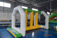0.9mm PVC Tarpaulin Inflatable Aqua Park Equipment With Trampoline