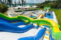 Kids And Adults Inflatable Water Park EN15649 Standard 0.9 Mm Pvc Tarpaulin ผู้ผลิต