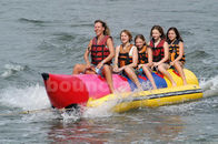 Inflatable Banana Boat For 5 Persons , Inflatable Towable Water Tube ผู้ผลิต