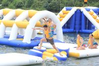 Custom Floating Water Games / Giant Inflatable Sea Water Park With TUV Certificate