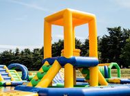 Inflatable Floating Water Obstacle Course / Water Park Playground Equipment
