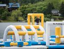 100 People Capacity Inflatable Water Park Games With TUV Certification