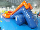 0.6mm PVC Tarpaulin Inflatable Water Slide With Pool For Water Park