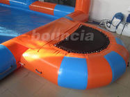 0.6mm Durable PVC Tarpaulin Inflatable Water Pool With Platform And Fence ผู้ผลิต