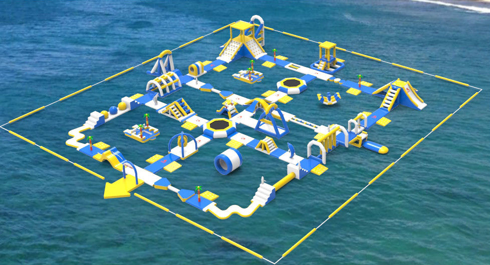 Giant Inflatable Water Toys Game / Inflatable Outdoor Water Theme Park Manufacturer ผู้ผลิต