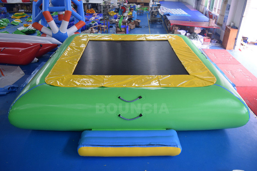 Water Park Commercial Grade PVC Inflatable Water Trampoline For Kids / Adults ผู้ผลิต