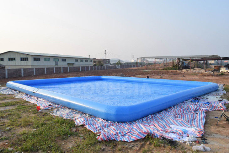 0.9mm PVC Tarpaulin Giant Inflatable Rectangular Water Swimming Pools For Water Park ผู้ผลิต