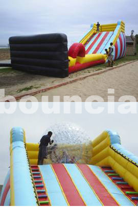 5m High Inflatable Zorb Ball Slope ,Inflatable Track For Zorbing Ball ผู้ผลิต