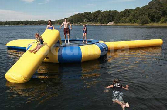 Commercial Grade Inflatable Water Trampoline Combo and Blob For Fun