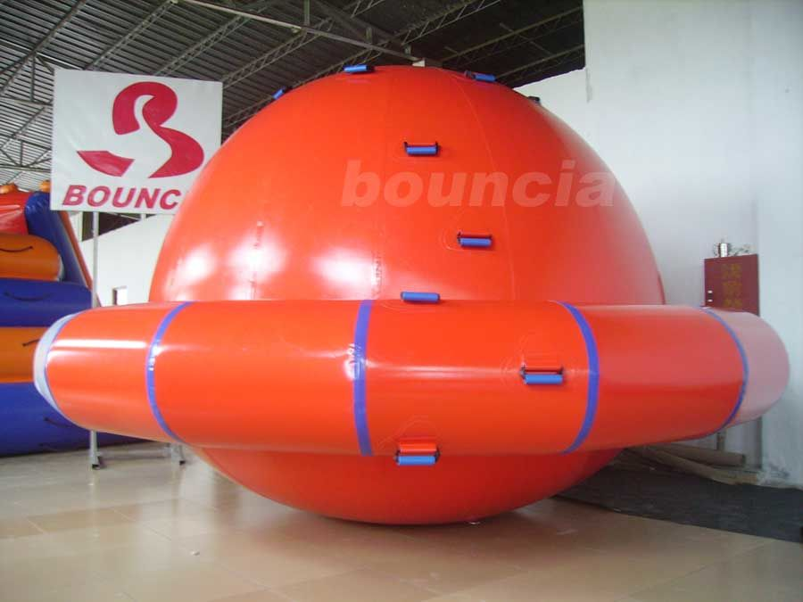 Commercial Grade PVC Tarpaulin Inflatable Saturn Rocker For Water Park Games ผู้ผลิต