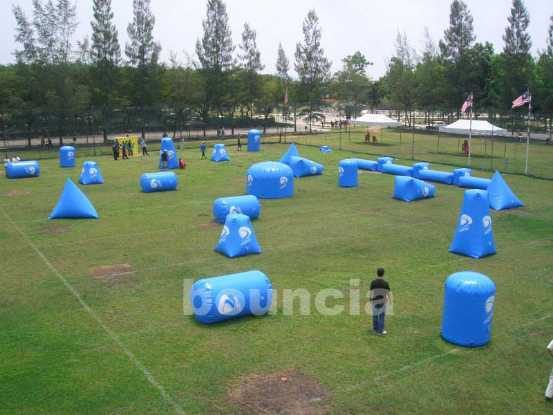 Commercial Grade PVC Tarpaulin Inflatable Paintball Bunker BUN39 ผู้ผลิต