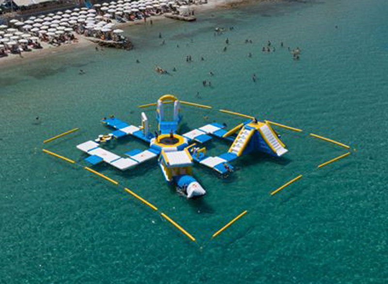 Greece Inflatable Aqua Park Equipment / Inflatable Commercial Water Park Toys Manufacturer
