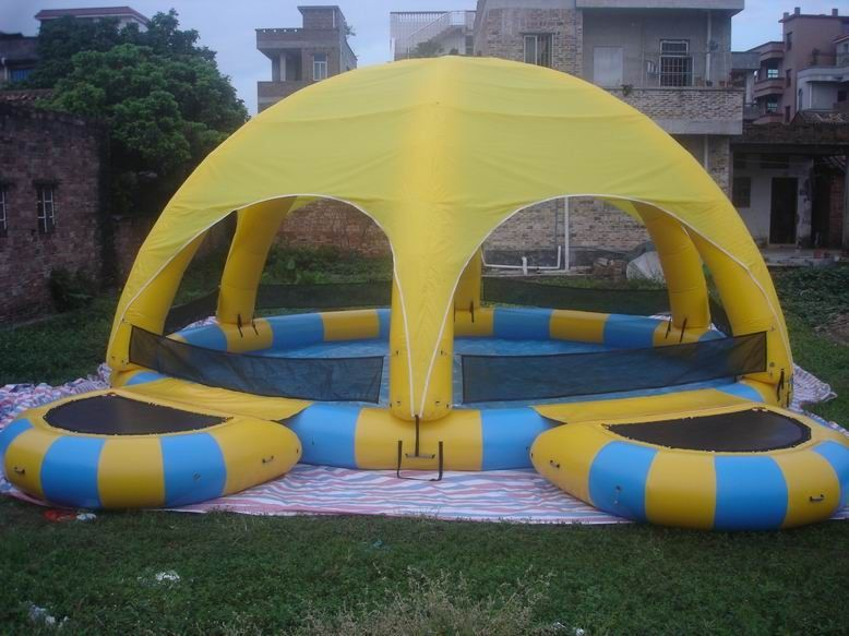 Inflatable Water Pool With Tent / Inflatable Water Ball Pool For Party ผู้ผลิต