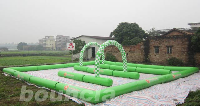 Inflatable Zorb Ball Track , Zorb Orbit With 0.6mm PVC Tarpaulin ผู้ผลิต