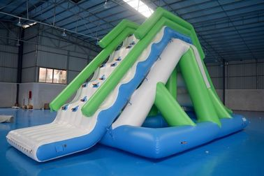 Customized 0.9mm PVC Tarpaulin Inflatable Water Slide For Commercial Use